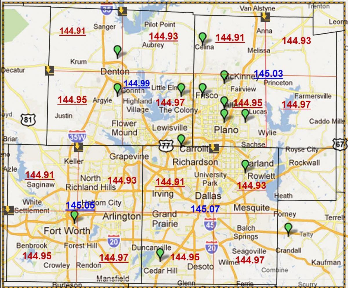 Zip code map-Dallas - Dallas, Texas-zip code map (Texas - USA)