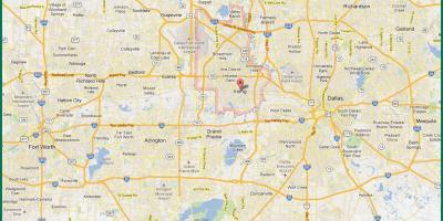 Karte DFW - Dallas-Fort Worth-city-map (Texas - USA)